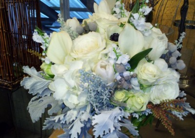 white blue bouquet